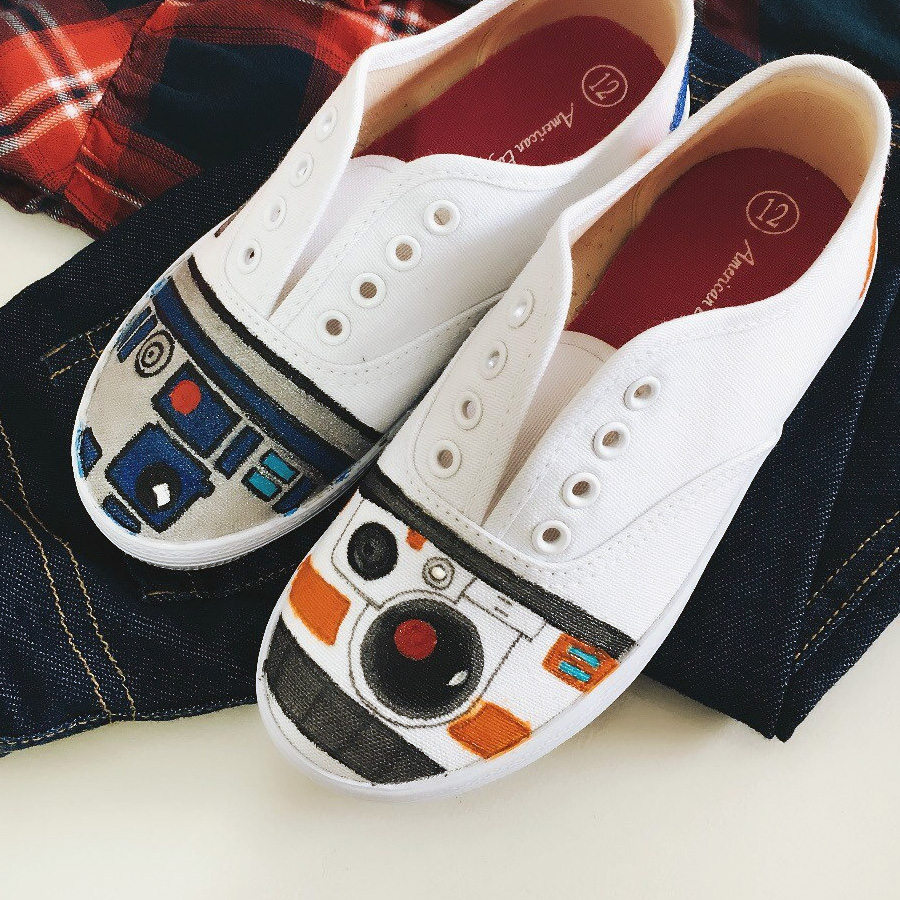 Adults Star Wars Shoes Custom Made Shoes Hand Painted