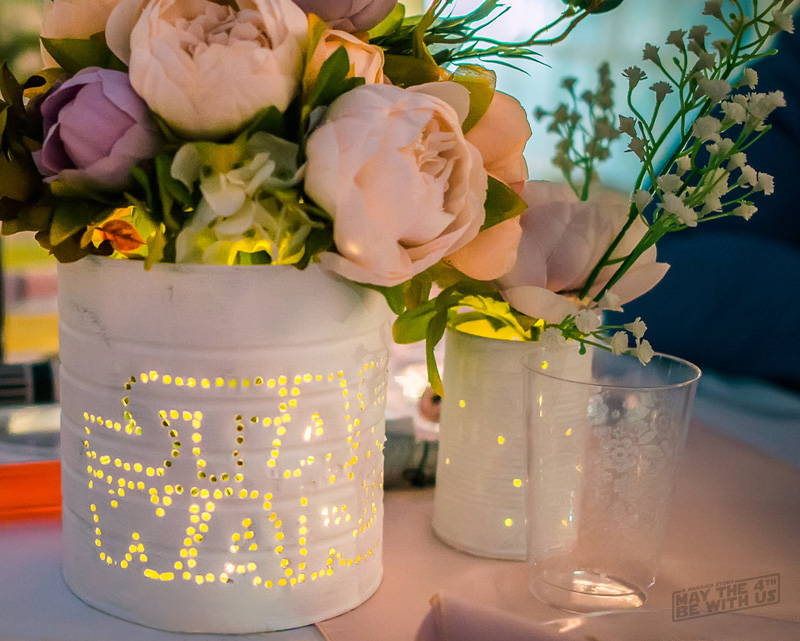 Star Wars Wedding Can Centerpieces Lit Up