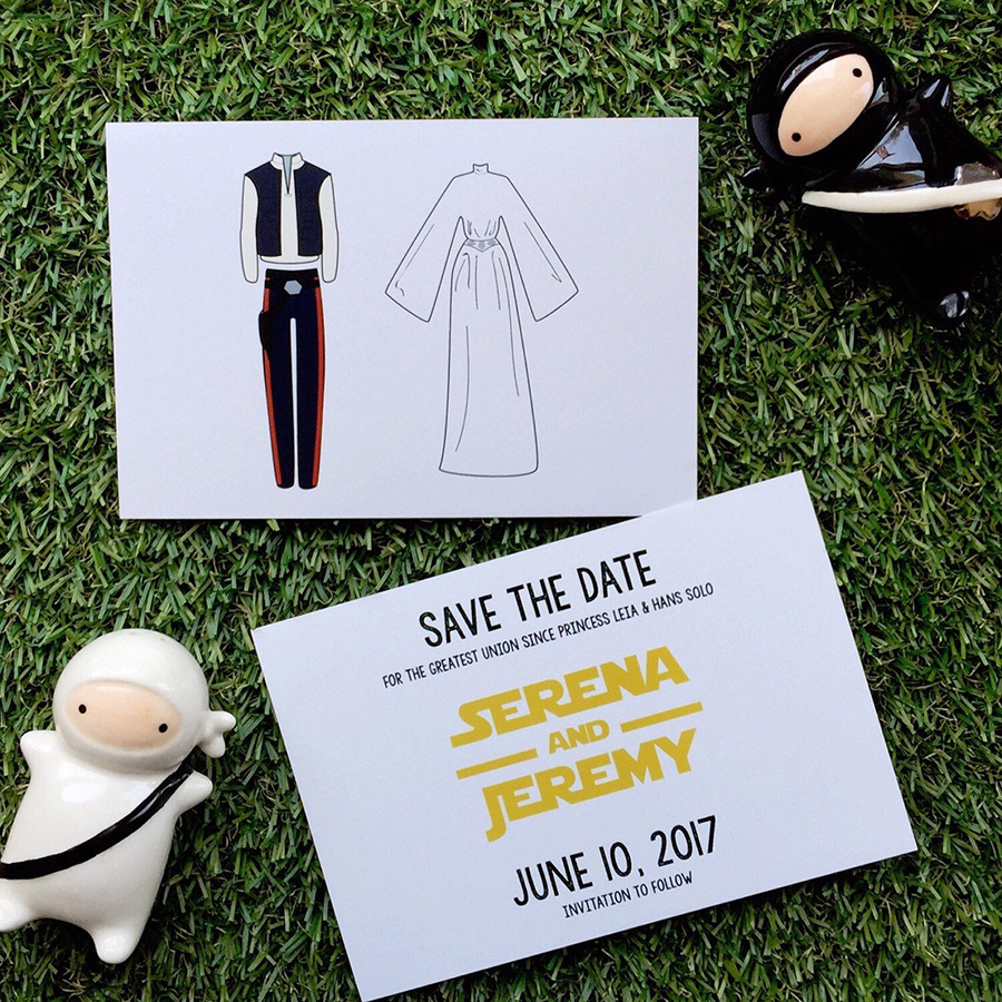 Star Wars themed Save the dates